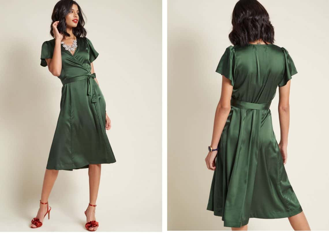 green satin collage Copy 1140x811 - Dress Ideas That Will Make You Sparkle On New Year's Eve