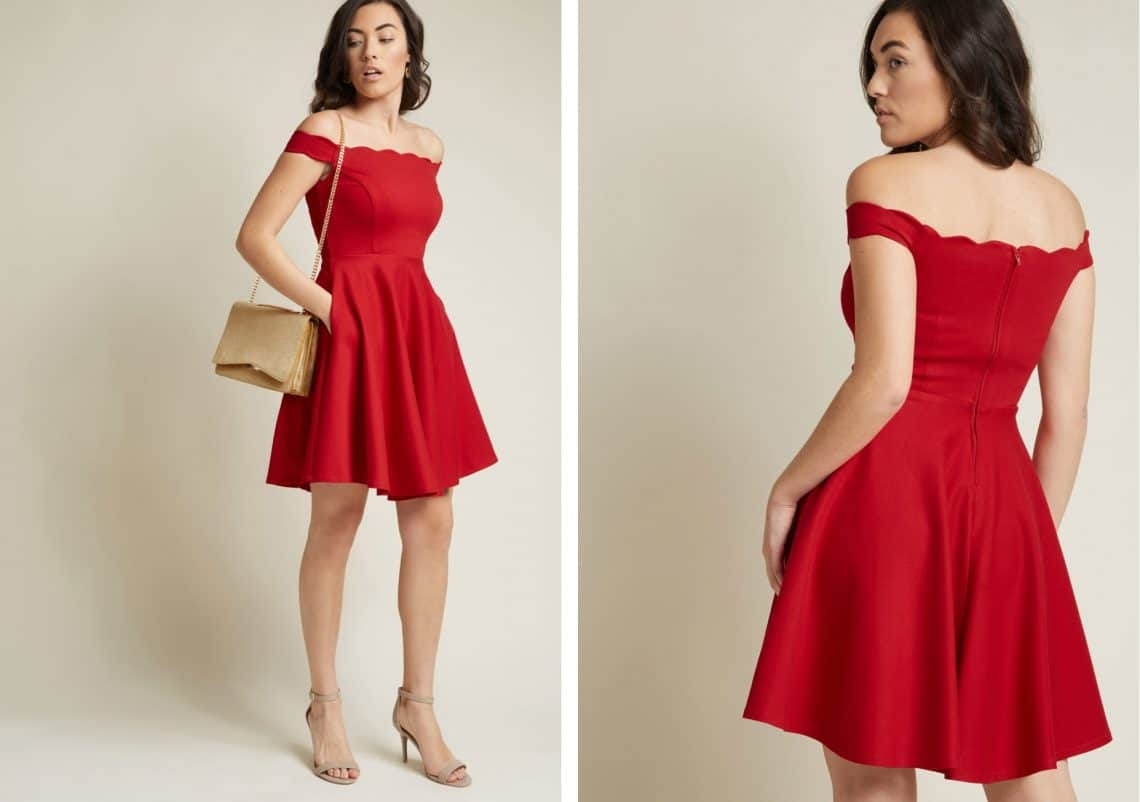 red dress collage Copy 1140x802 - Dress Ideas That Will Make You Sparkle On New Year's Eve