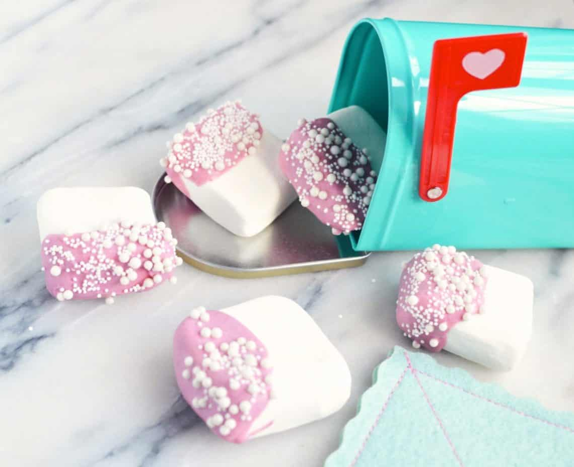 valentine chocolate dipped marshmallows recipe