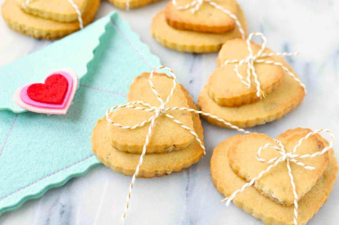 valentine pecan shortbread cookies recipe