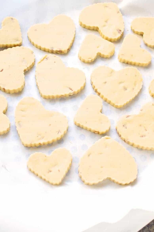 Valentine Pecan Shortbread Cookies Recipe