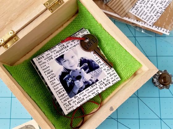 30 minute diy memory box 1 560x420 - How to Make a Pull Out Style DIY Memory Box in About 30 Minutes