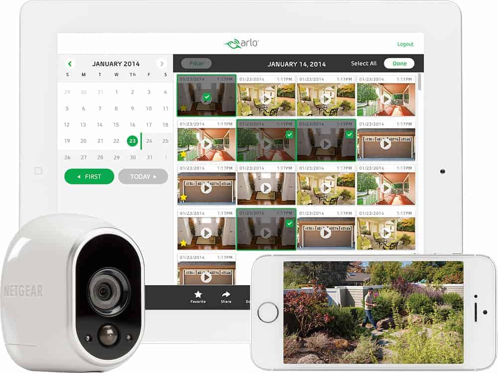 smart home security arlo