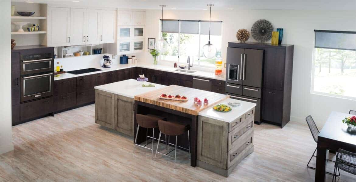 5 kitchen design inspirations for new black stainless steel appliances for Kitchen designs with black stainless appliances