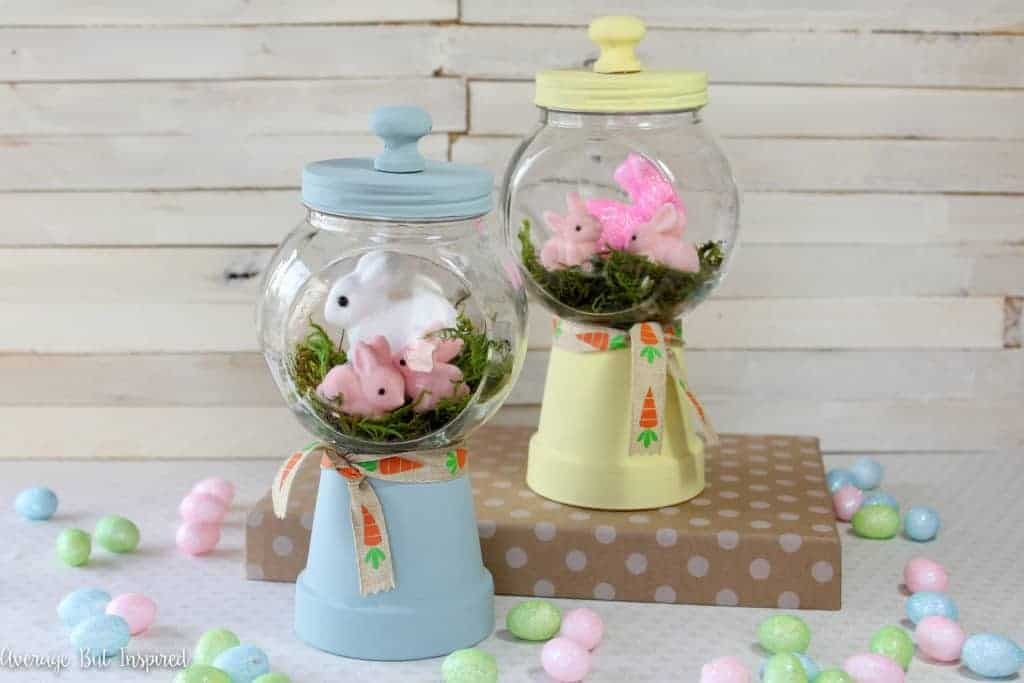 Bunny Gumball Machines 8837 1024x683 - 14 Adorable DIY Easter Crafts Anyone Can Make!
