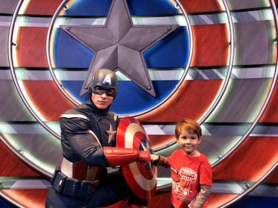 CAPTAIN AMERICA The Living Legend and Symbol of Courage 7 560x420 - Have a Meet and Greet with Captain America at Disneyland