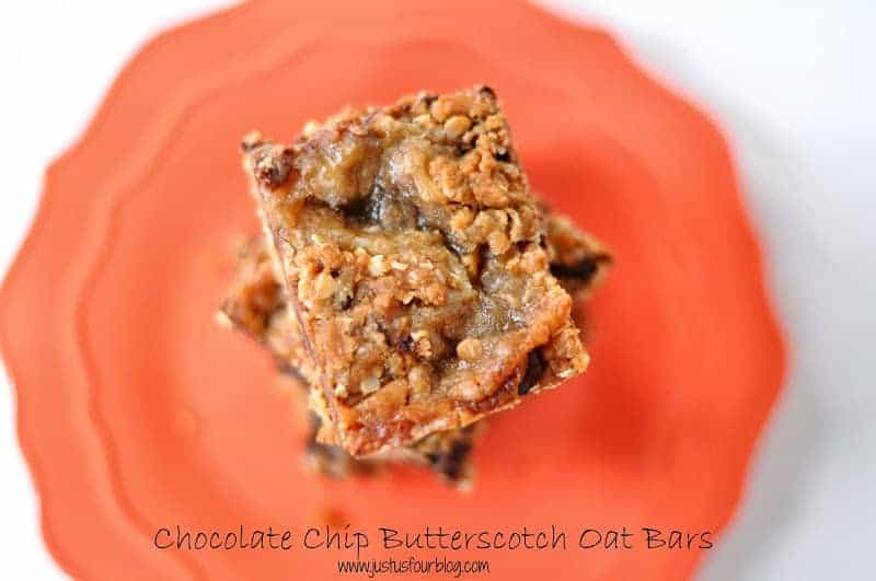 Chocolate Butterscotch Oatmeal Bars