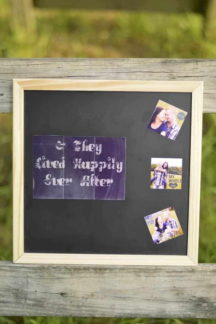 DIY Chalkboard Wedding Prop 2