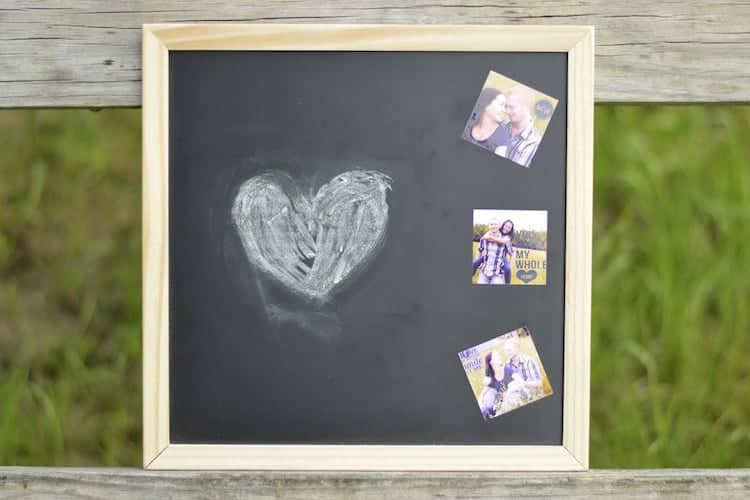 DIY Chalkboard Wedding Prop