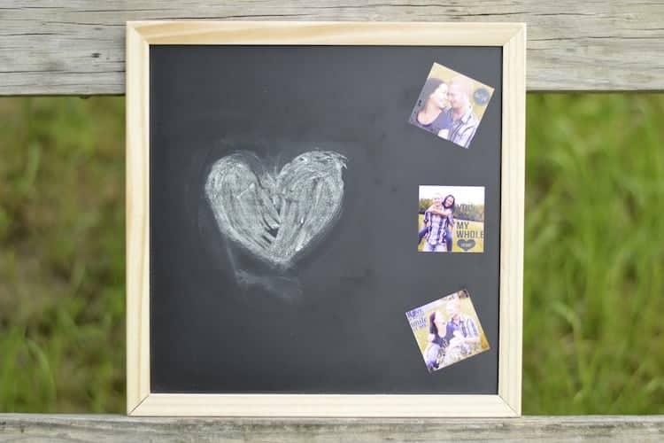 DIY Chalkboard Wedding Prop