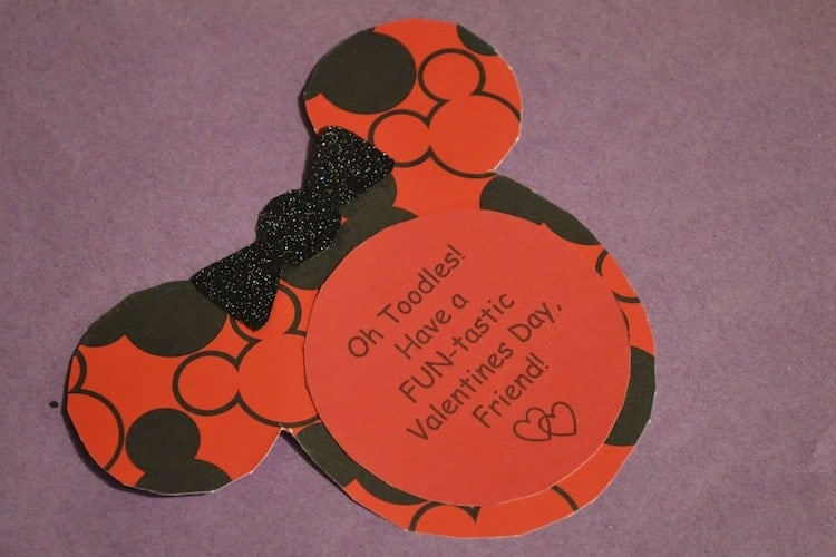 DIY Minnie Mouse Valentines Card 2