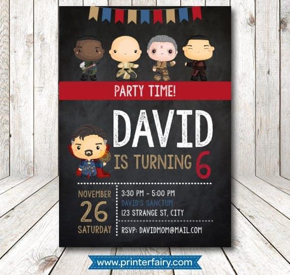 Dr Strange Party Invitation - Doctor Strange Birthday Party Ideas