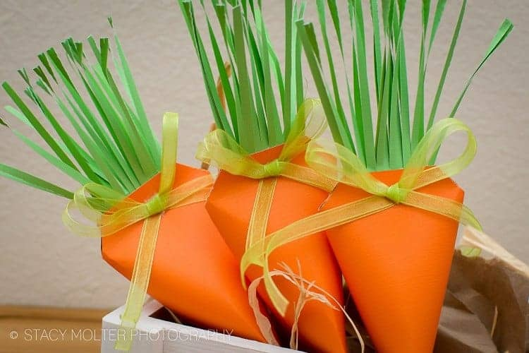 Easter Carrot Treat Box 7 - 14 Adorable DIY Easter Crafts Anyone Can Make!