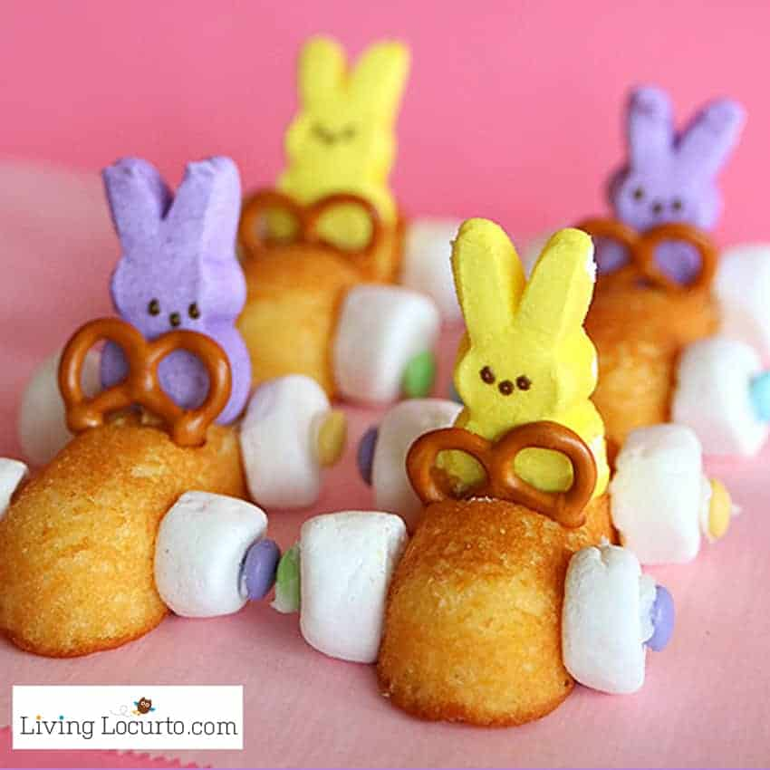Easter Peeps Race Car Fun Food - 14 Adorable DIY Easter Crafts Anyone Can Make!