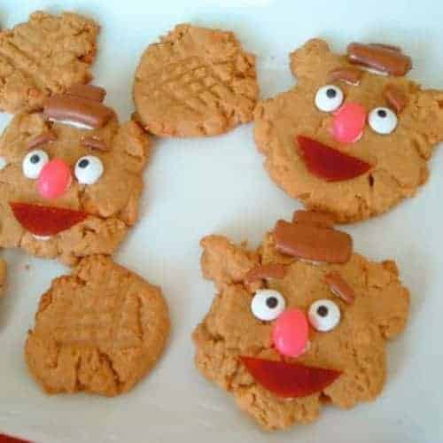 Fozzie Bear Peanut Butter Cookies