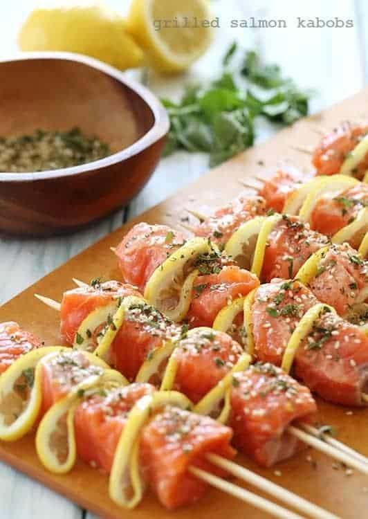 Grilled Salmon Kebab 10