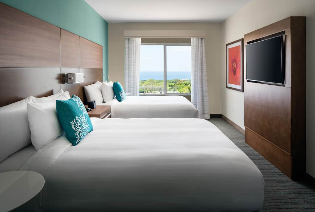 HNMRI 1Bdrm 2Queen Ocean View Bedroom OVOG - Residence Inn Maui Puts the Relaxation Back in Vacation for Parents