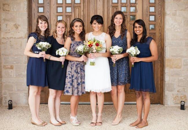 Mismatched Bridesmaids Dresses 1