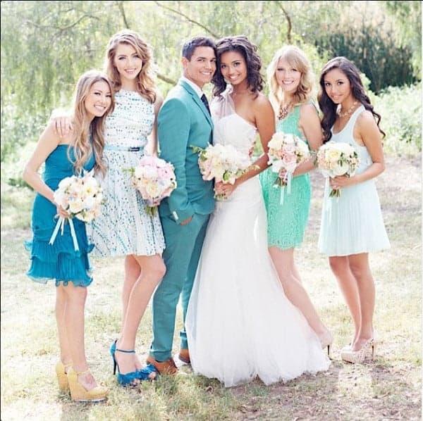 Mismatched Bridesmaids Dresses 8
