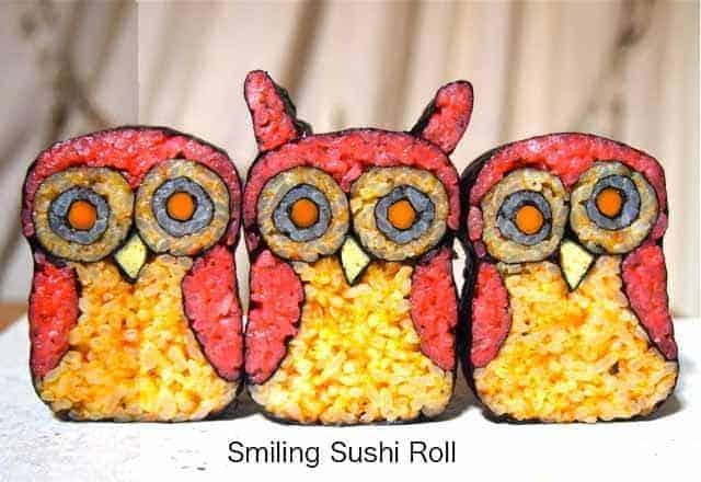 Sushi Art Owl 2