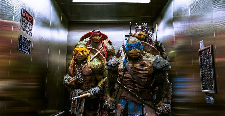TMNT ElevatorScene1 - Teenage Mutant Ninja Turtles Movie Review