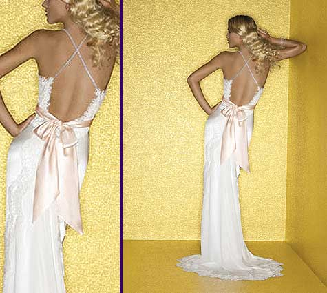 backless wedding dress
