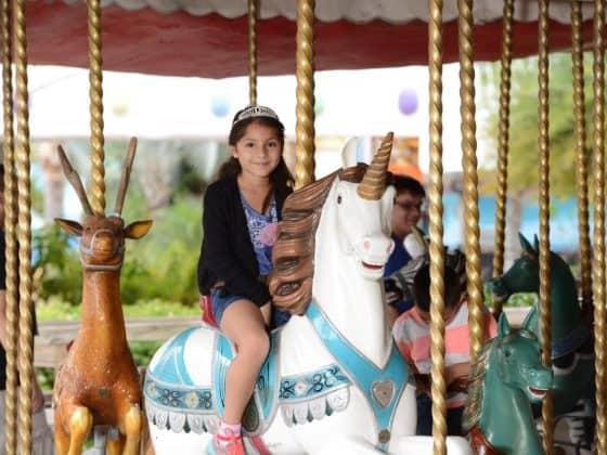 girl on carousel 560x420 - Help Give the Kids the World While You Accessorize