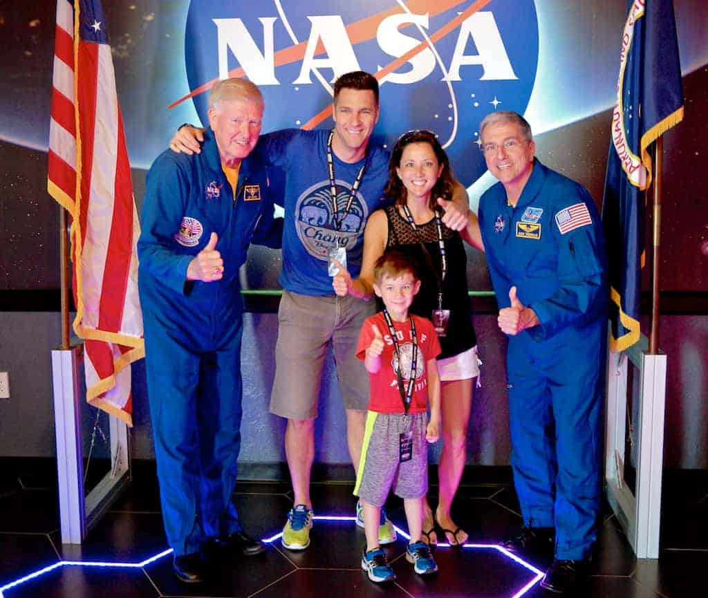 Meeting astronauts at Kennedy Space Center Visitors Complex