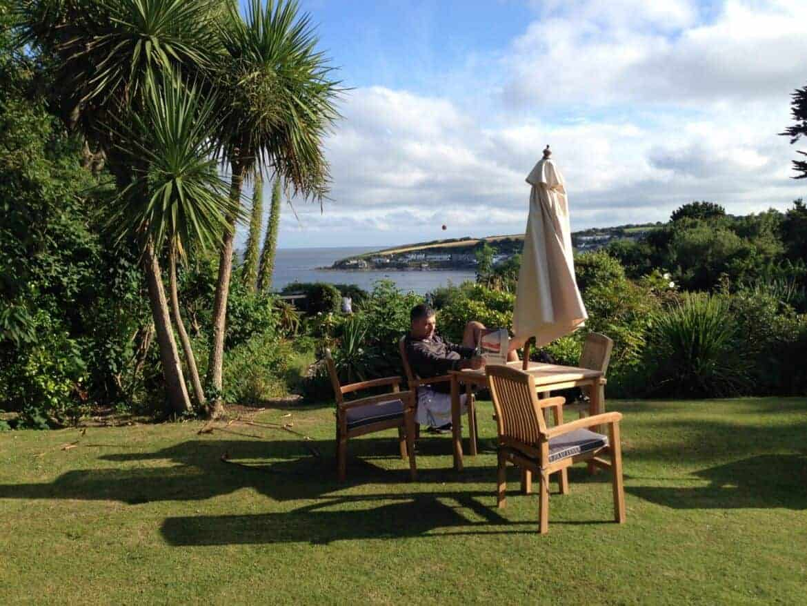 View from The Rosevine in Cornwall