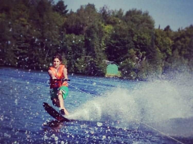 Family fun waterskiing in Ontario!