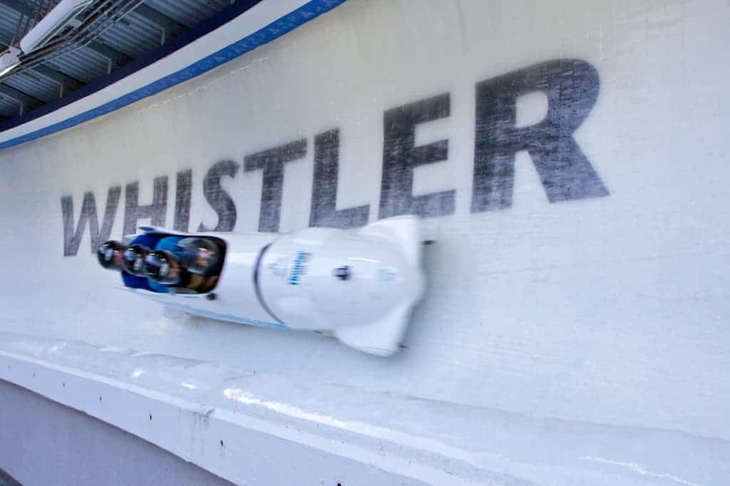whistler sliding center bob sledding 1