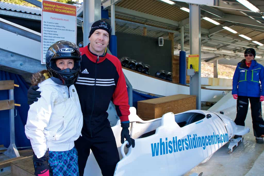whistler sliding center bob sledding